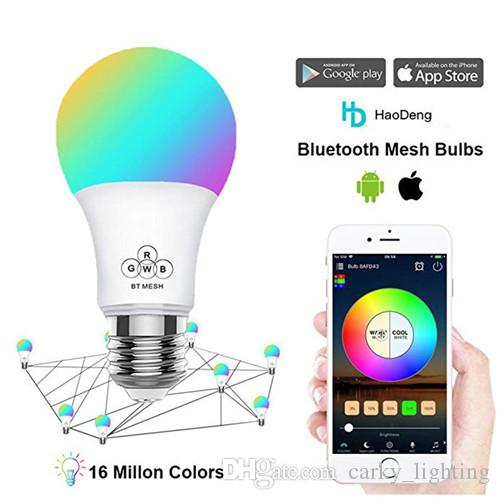 100-Pack Bluetooth Mesh Bulb Magic Blub Light 4 5W, RGB Full Colors  Changing for Home, Party Decoration,Connect to Amazon Alexa,Google,IFTTT
