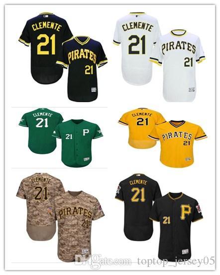 huge discount d26d7 94eea 2018 Pittsburgh Pirates Jerseys #21 Roberto Clemente Jerseys  men#WOMEN#YOUTH#Men s Baseball Jersey Majestic Stitched Professional  sportswear