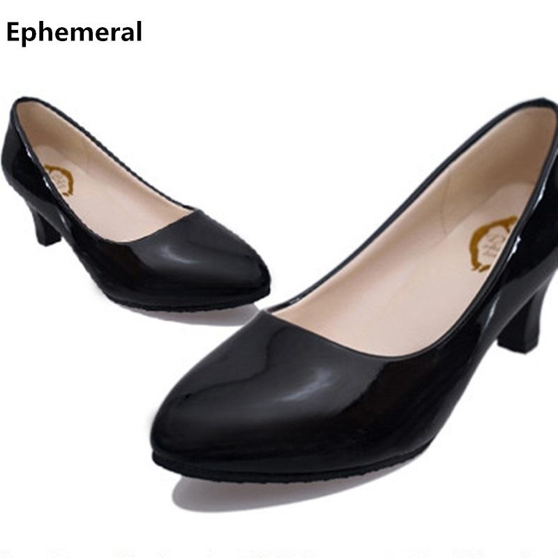 256811ab08d Cheap Office Ladies Low Heels Pumps Pointed Toe Stiletto Zapatos Mujer For  Women Plus Size 11 10 Red Black White Loafers Clogs For Women Cheap Shoes  Online ...