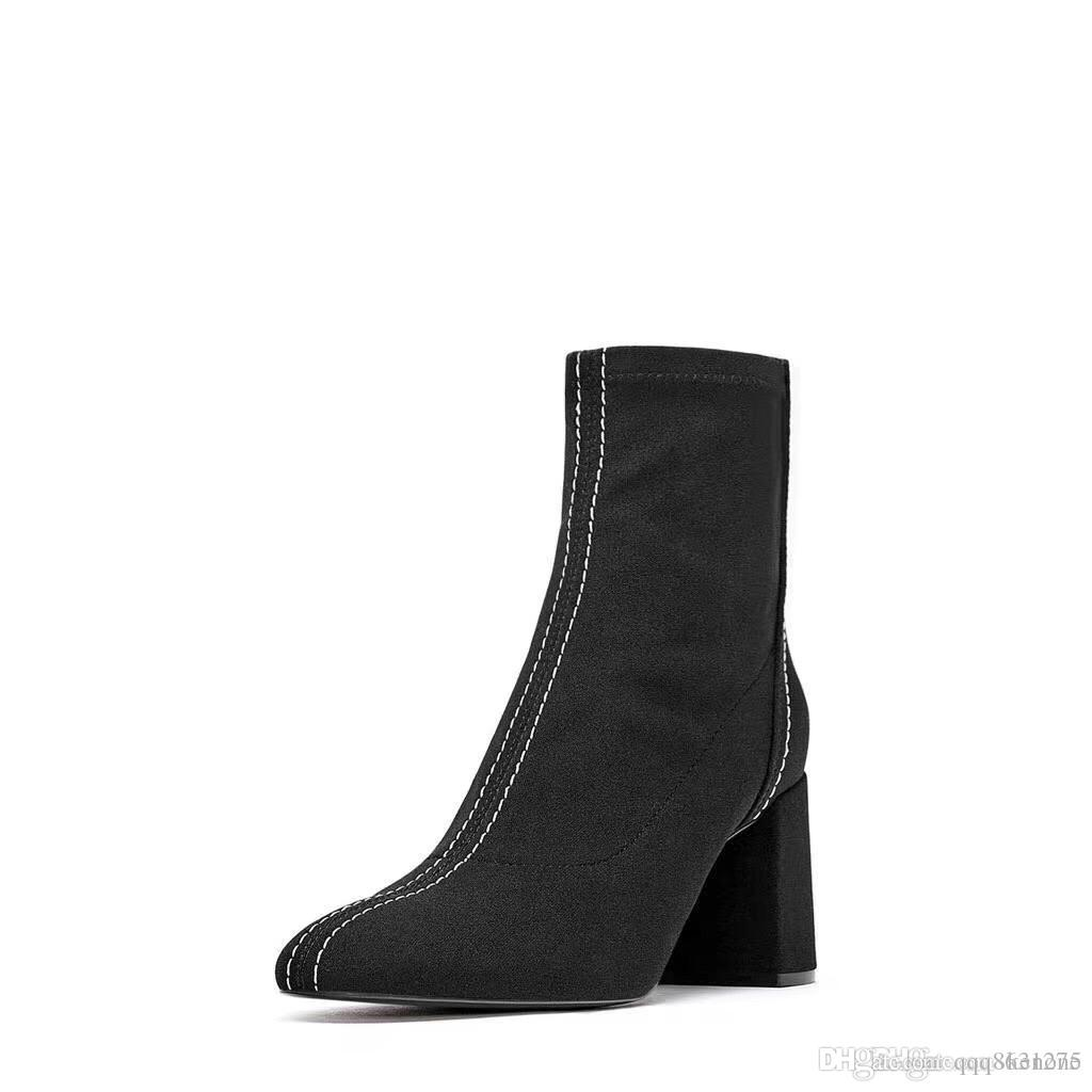 fa18096445 Women Black Martin Boots Casual Lady Winter Shoes Frosted Upper ...
