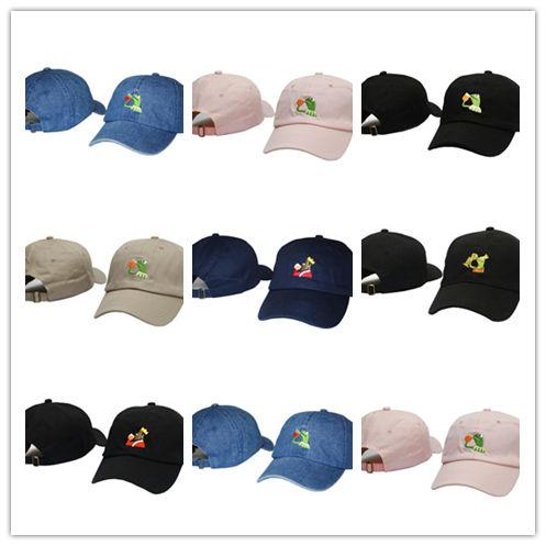 a911372e7246e Free Shipping Frog Tea Snapback Kermit None Of My business Dad Hat Lebron  James casquette kanye west Big Daddy hat