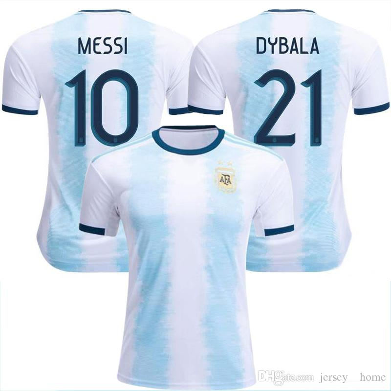 4c6d922cd 2019 Wholesale New Argentina World Cup Soccer Jersey 18 19 20 MESSI Home DI  MARIA AGUERO Thai Quality Argentina Football Shirts 2019 From Jersey  home