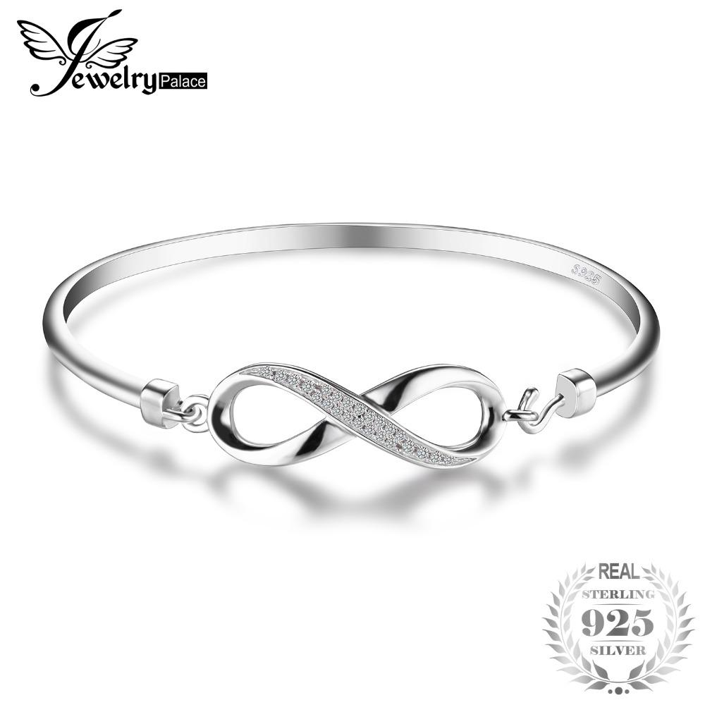 c448149d16f802 Acquista Ashion Jewelry Bracciali JewelryPalace Forever Love Infinity Cubic  Zirconia Anniversary Bangle Bracelet Pure 925 Gioielli In Argento Sterling .