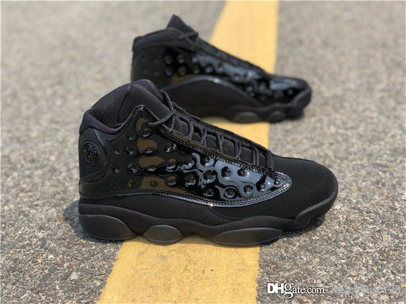 size 40 99806 461a6 2019 2019 Hottest Air Authentic 13 Cap And Gown Retro Black Men Women  Basketball Shoes Real Carbon Fiber Sports Sneakers 414571 012 With Box From  ...