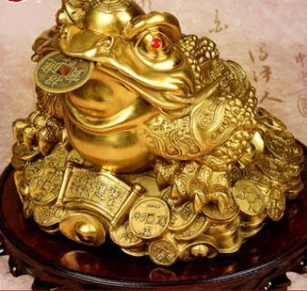 Bronze toad's wealth decoration Feng Shui