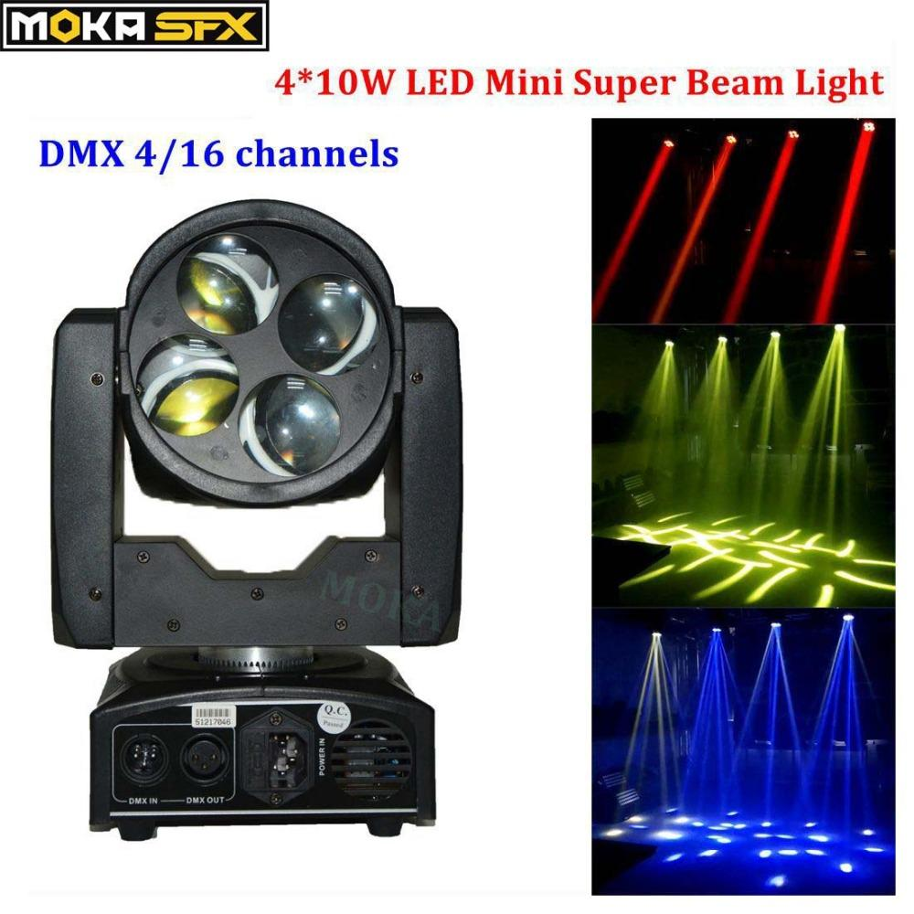 Mini Led Super Beam Moving Head Light 4 10w White Color Source Open