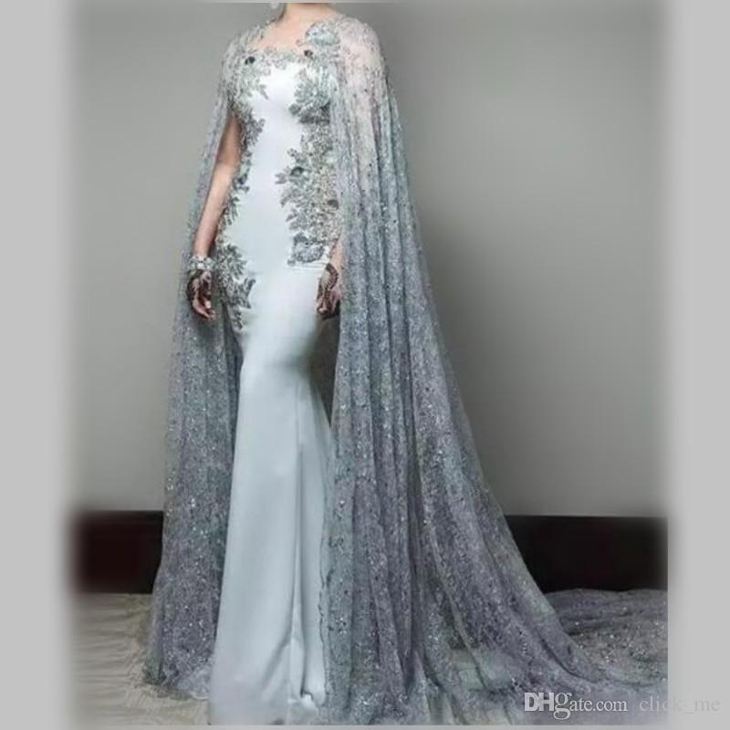 1ee65e34241 Elegant Prom Dresses Long With Lace Jacket Wraps Jewel Appliques Beads  Mermaid Evening Gowns Sweep Train Back Zipper African Party Dress Juniors  Prom ...