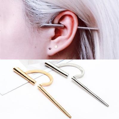 Tragus Piercing Jewelry Women Retro C Shaped Ear Clip Earless Earrings Titanium Steel Earring Cartilage Piercing Jewelry