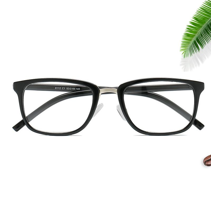 e3cb7a1119 2019 2019 New Fashion Square Glasses Comfortable Nose Pads Simple Retro Glasses  Frame Trend Men And Women Decorative Flat Mirror.