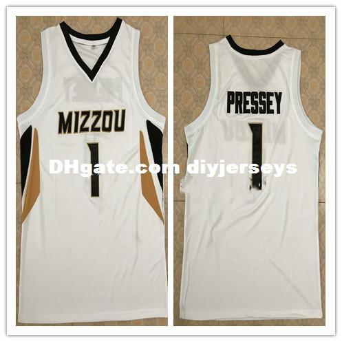 sports shoes a94fa a68e7 #1 Phil Pressey Missouri Tigers Basketball Jersey white Retro Top stitched  embroide name and number,custom MIZZOU any size XS-6XL vest Jerse