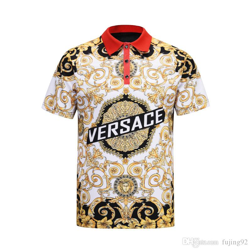 de414cfa 2019 Brand New Men Polo Shirts Fashion Designer Casual Polo Shirt  Embroidery Snake Bee Floral Stripe Print Mens Polos Buy Shirt Designs Funny  Clever T ...