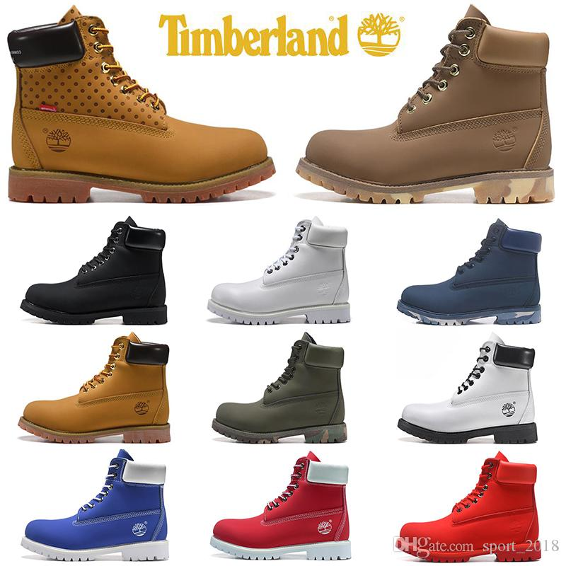 Hot Sale Timberland boots luxury designer men women casual shoes military Chestnut Black White red sneakers mens trainers leather ankle boot