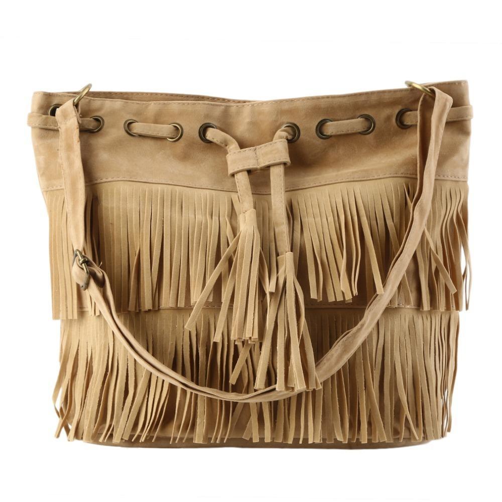 e86c0306d9 Women Popular Faux Suede Fringe Tassel Shoulder Bag Handbags Messenger Bag  2018 Hot HOT Sale Leather Backpack Clutch Bags From Boot21
