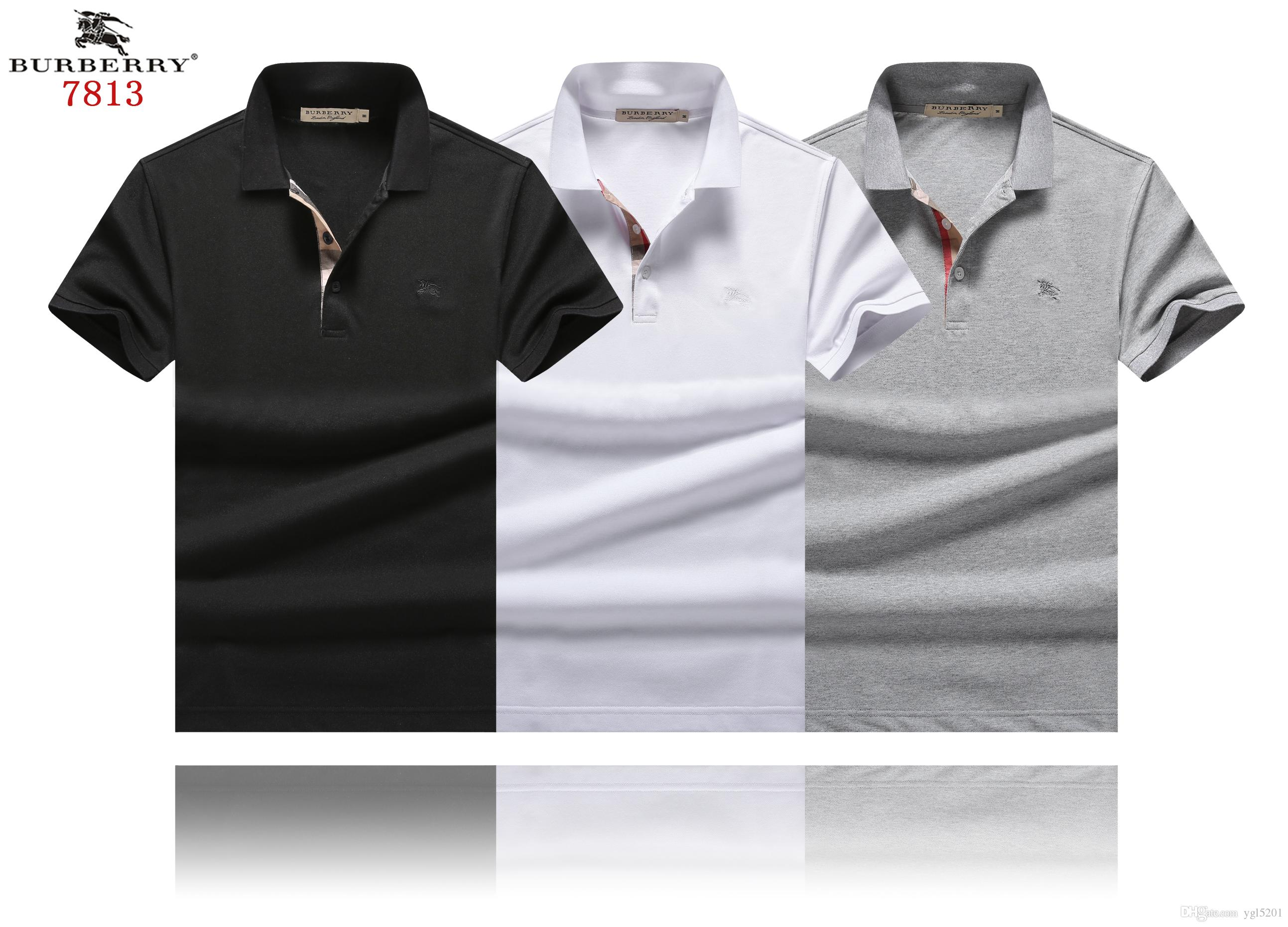 60c36b079322bf 2019 New 2019 GB Luxury Brand Designer Classic Plaid Summer Men S Polo  Shirts BUR005 England Fashion Casual Cotton Short Sleeve Men Lapel T Shirt  From ...
