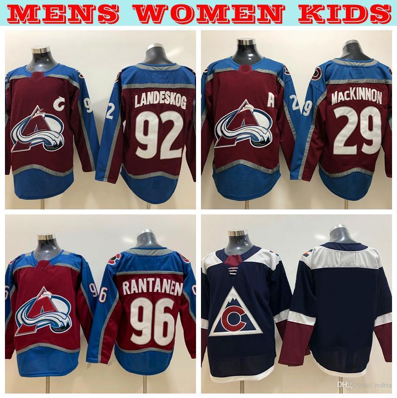 0ee374a47b9 2019 Youth Womens Mens Colorado Avalanche Hockey Jerseys Home 92 ...