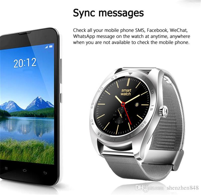 Moda k89 smart watch yuvarlak ekran smartwatch 4.0 bluetooth 1.2 inç ekran İzle erkekler kadınlar için iphone ios android telefon için