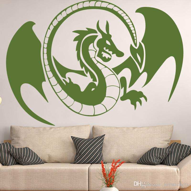 Wings Dragon Window Decal Wall Stickers DIY Home Decalation Accessories Vinyl Waterproof Wall Sticker for Living Room Decal