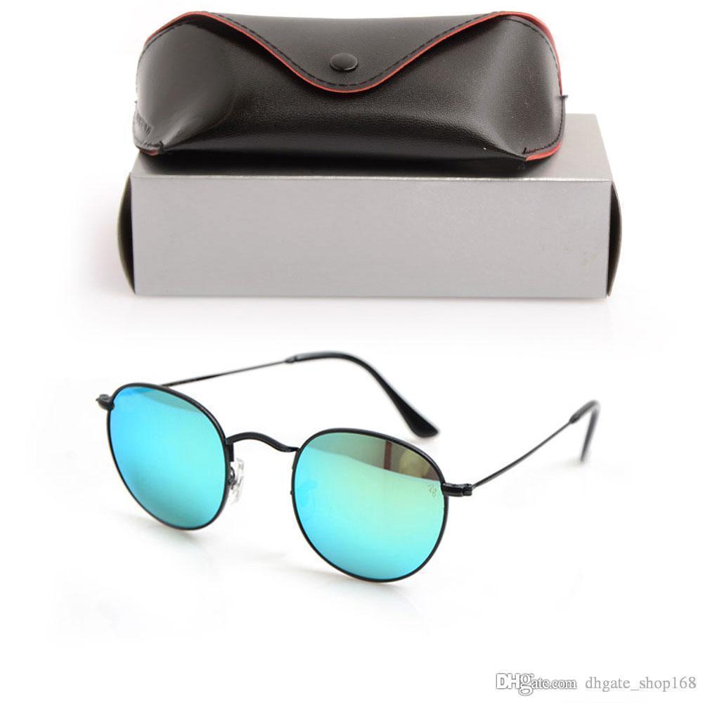 b63bc36856e44 Acheter Nouvelle Lunettes De Soleil Rondes 3447 Marque Designer Eyewear  Lentille En Verre Pour Hommes Lunettes De Soleil Pilote Lunettes De  Protection UV ...