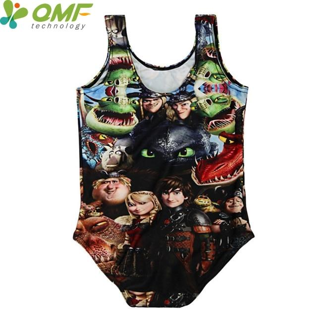 How To Train Your Dragon Children Swimwear One Piece Swimming Suit Cartoon Costume Hiccup Girls Swimsuit Kids Beachwear Bodysuit