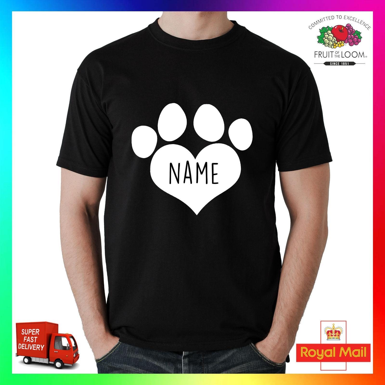 2dbd9733 Custom Dog Name T Shirt Shirt Printed Tee I Love Heart Paw Pet Pup Your Own  Dogs Funny Unisex Casual Tshirt T Shirts Print Tees Online From  Sillyboytshirts, ...