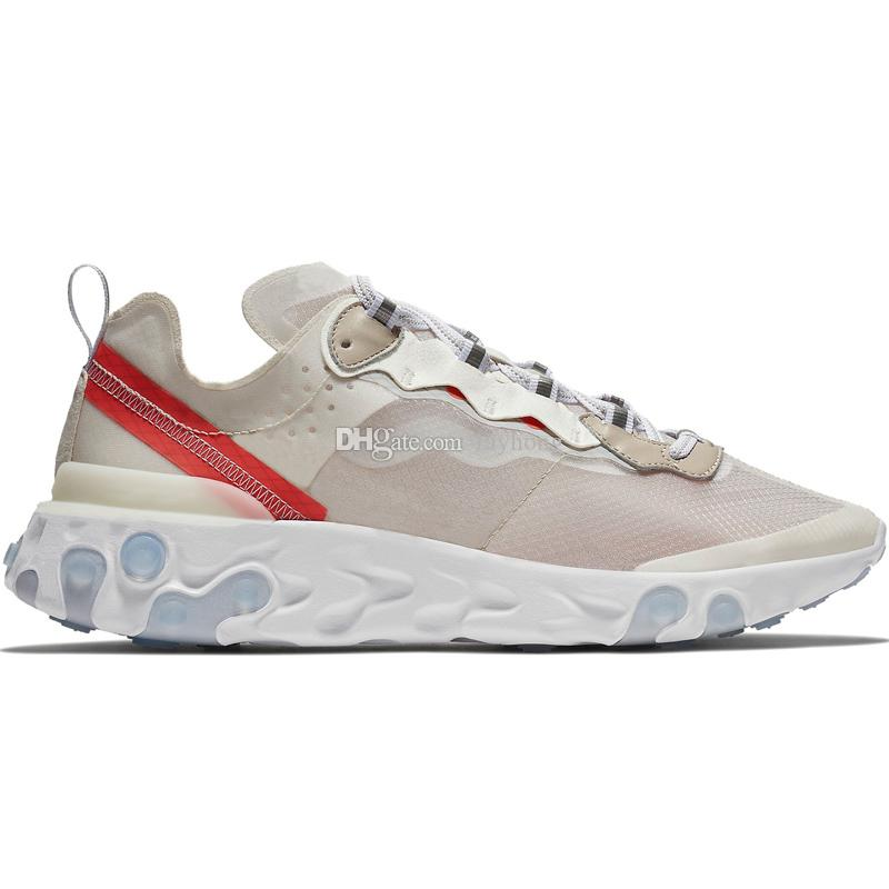 40+Colorways React Element 87 55 Undercover Men Running Shoes For Women Designer Sneakers Sports Men Trainer Shoe Sail Light Bone Royal Tint