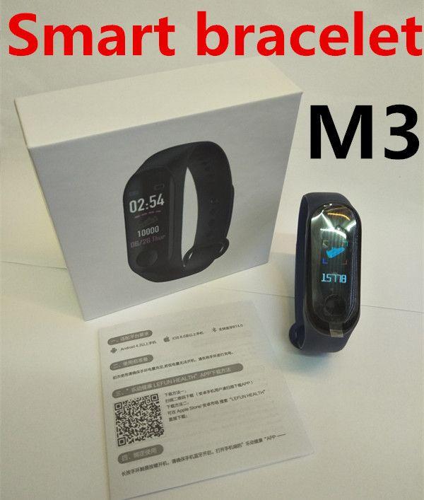 Grande Health Pulsera M3 Fitness Mensaje Caja Lefun Reloj Batería Frecuencia Podómetro Impermeable Cardíaca Pulsador Bluetooth Tracker Inteligente FKJcTl13u