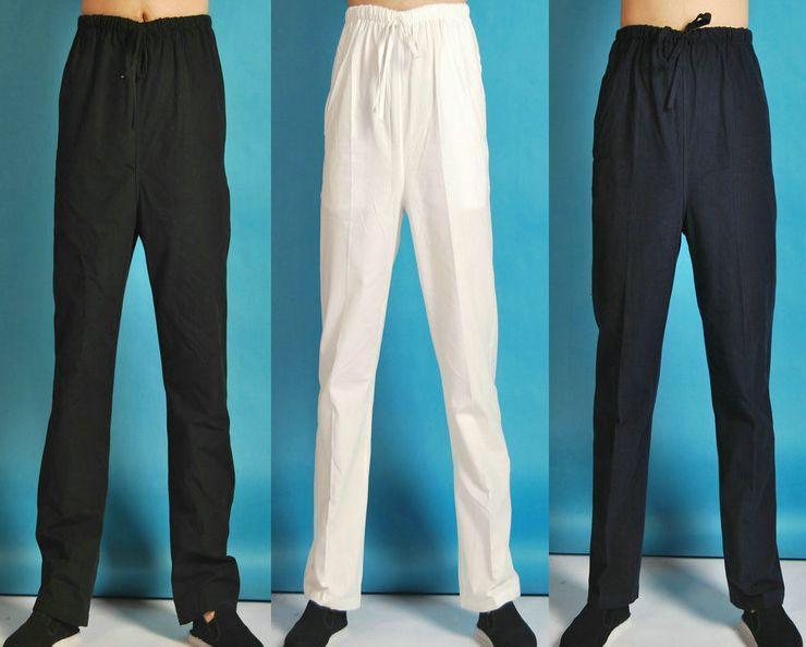 a1d712da6d73 Acquista Pantaloni Uomo In Cotone A Coste Pantaloni Maschili Kung Fu Tai  Chi Arti Marziali Nero / Blu A $45.98 Dal Beachsandy   DHgate.Com
