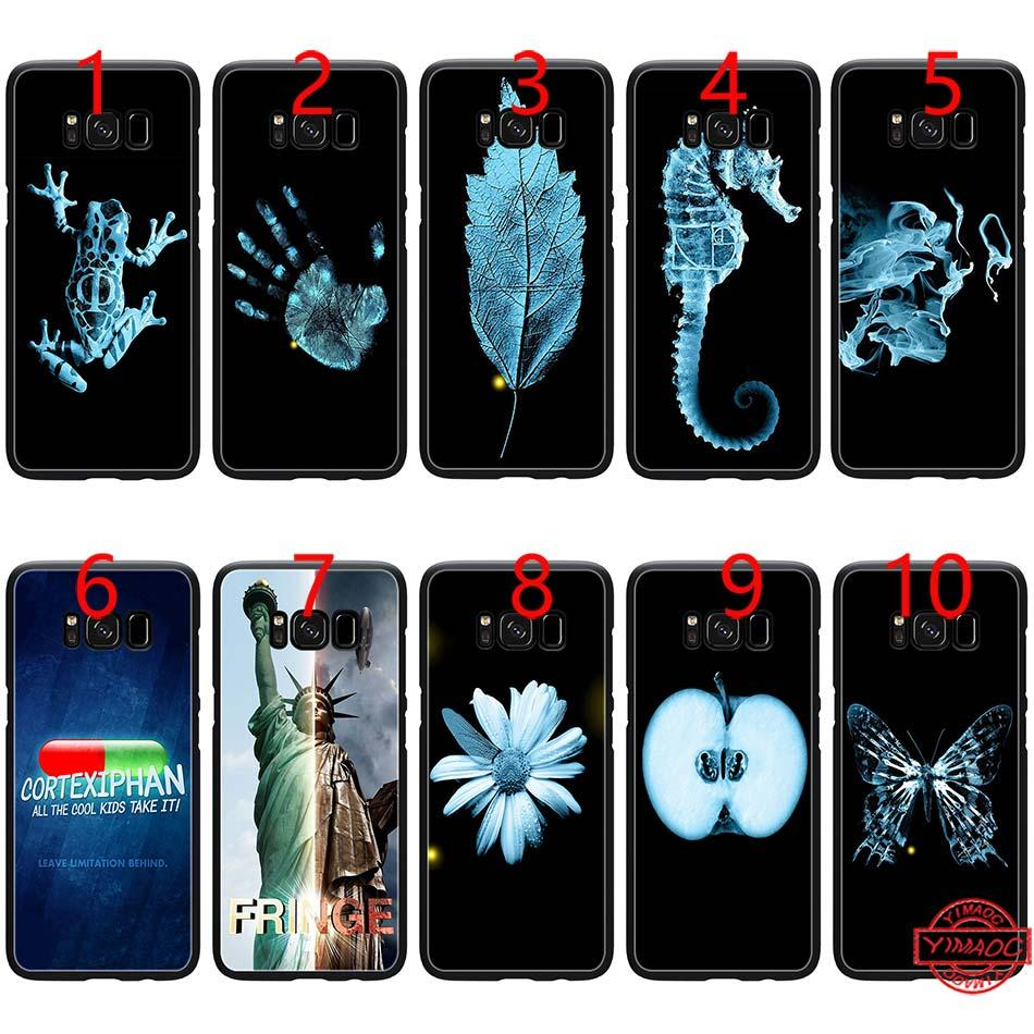 Fringe Symbols TV Show Soft Black TPU Phone Case for Samsung Note 9 8 S8 S9  Plus S6 S7 Edge Cover