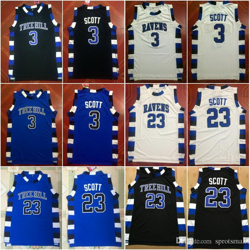 a4fbe438ddd 2019 One Tree Hill Raven Jerseys Stitched Cheap 3 Lucas Scott 23 Nathan  Scott Brother Movie Basketball Jersey From Sprotsmall, $14.22 | DHgate.Com