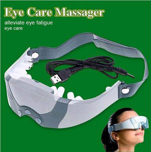 New Mask Migraine adapter or Battery Electric Care Forehead Eye Massager tool relax you eye and brain massage eyepatch corrected eye sight