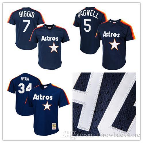 ab22ebc9b79 Men s Houston Nolan Ryan Jersey Astros Craig Biggio Jeff Bagwell ...