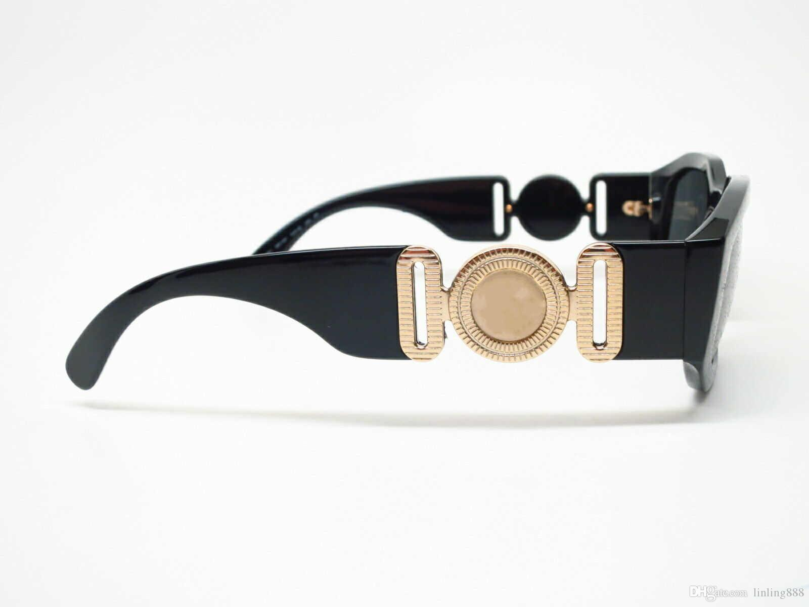 4361 GB1 / 87 Schwarz / Grau Herren Sonnenbrille 53 mm Unisex Designer-Sonnenbrillen Luxus-Sonnenbrillen Modemarke für Herren Frau Brille