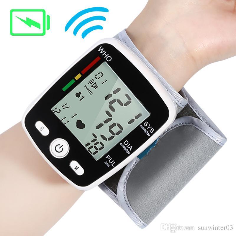 Family Health Monitor Digital Wrist Blood Pressure Monitor WHO  Classification Indicator Sphygmomanometer Sphygmometer Black CK W355