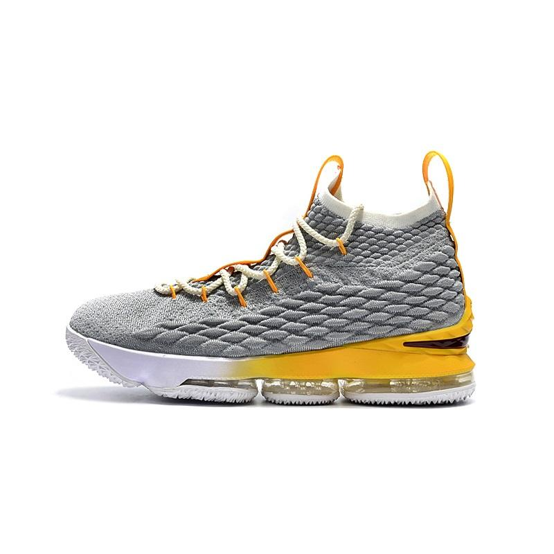official photos c6ced a8c76 Cheap Mens lebron 15 basketball shoes new for sale White black foams boys  girls youth kids outdoor sneakers boots with box