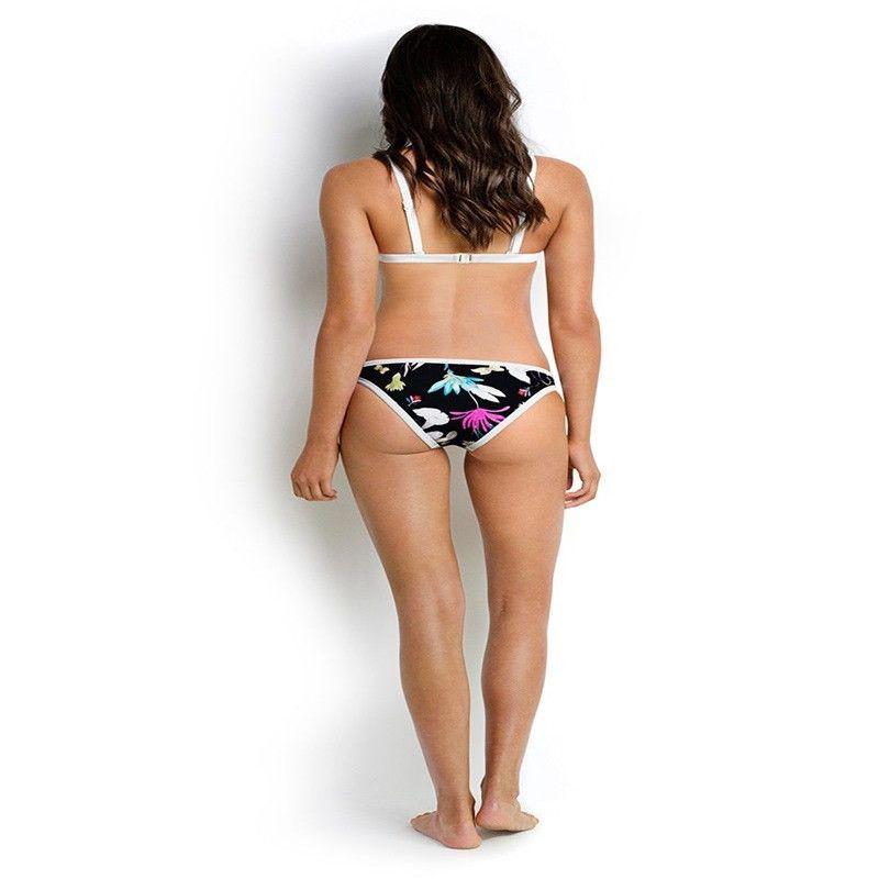 Mulheres Swimwear 2020 Hot venda Vintage Printing Bikini Set Push-up acolchoado Bra Swimsuit Maiô Swimwear Beachwear Biquni
