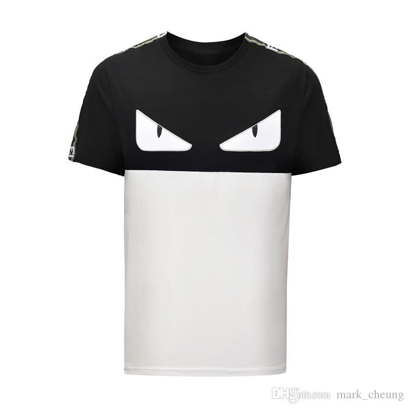 529d9a65338c Acheter 2019 Luxury Brand Hommes Femmes T Shirt À Manches Courtes Petit  Monstre Drôle Yeux Imprimer 100% Coton Hommes Cool T Shirt Mode Estivale  Streetwear ...