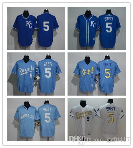 589494c6134 Custom Men s Women Youth Kansas City Royals Jersey  5 George Brett ...