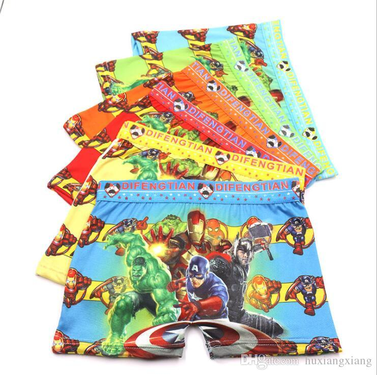 12Pcs Lot Boys Cartoon printing underwear Boy's flat panties kids underpants Suitable for 3 to 11 year old boys Children's Fashion S19JS057