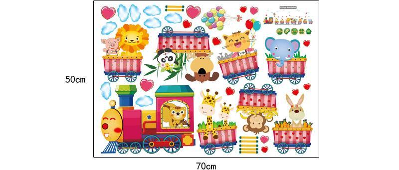Stickers muraux [ZOOYOO] animaux de la bande dessinée pour les chambres d'enfants chambre d'enfant bébé enfants chambre décoration art stickers