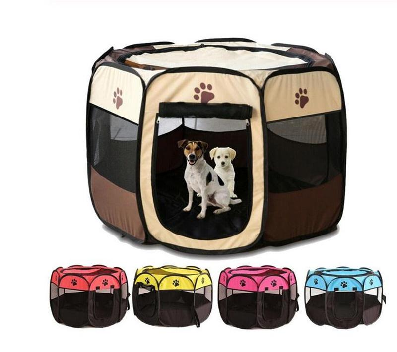 Portable Outdoor Kennels Fences Pet Tent Houses Foldable Playpen Indoor Puppy Cage Dog Crate Delivery Room For Small Large Dogs