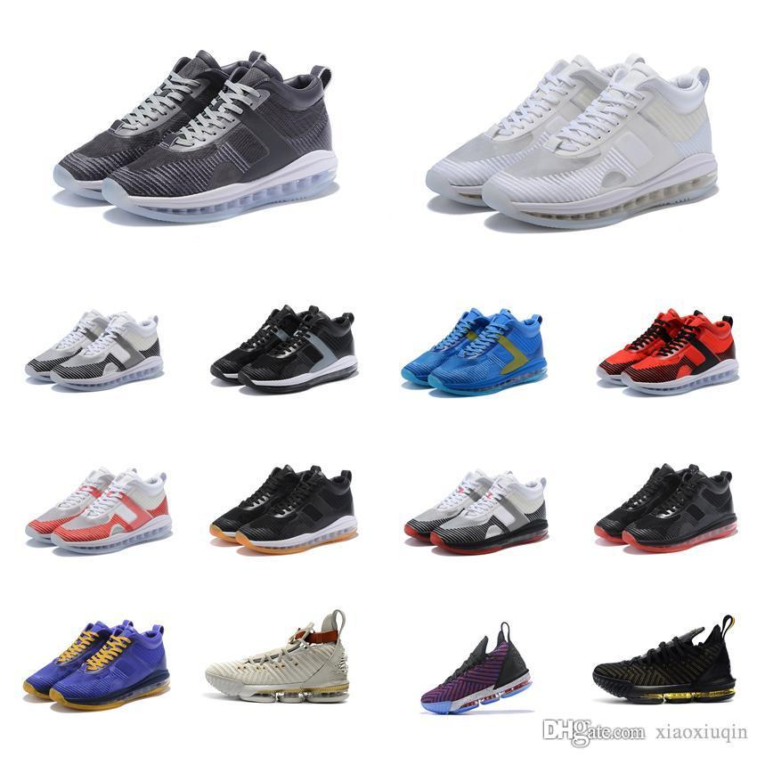 premium selection 522fb ad7c4 Mens John Elliott lebron icon shoes for sale Bred Triple White Team Red  Blue youth kids new Lebrons 16 HFR outdoor sneakers boots with box