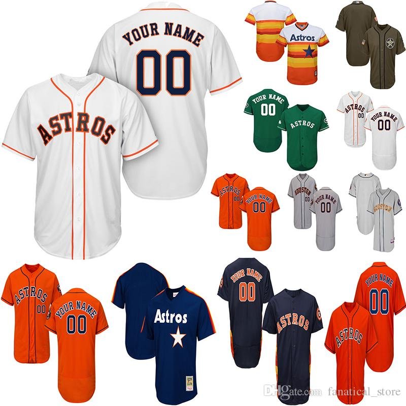 super popular 38d9d b08d4 2019 Customized Houston Astros Jersey Mens Women Youth Baseball Jersey Alex  Bregman Jersey Jose Altuve George Springer Nolan Ryan