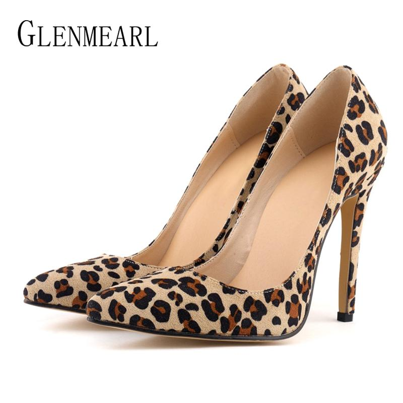 f1563ca43f4 Designer Women Pumps Leopard Shoes High Heels Sexy Pointed Toes Wedding  Shoes Woman Stiletto Heel Office Lady Dress Shoes Casual Evening