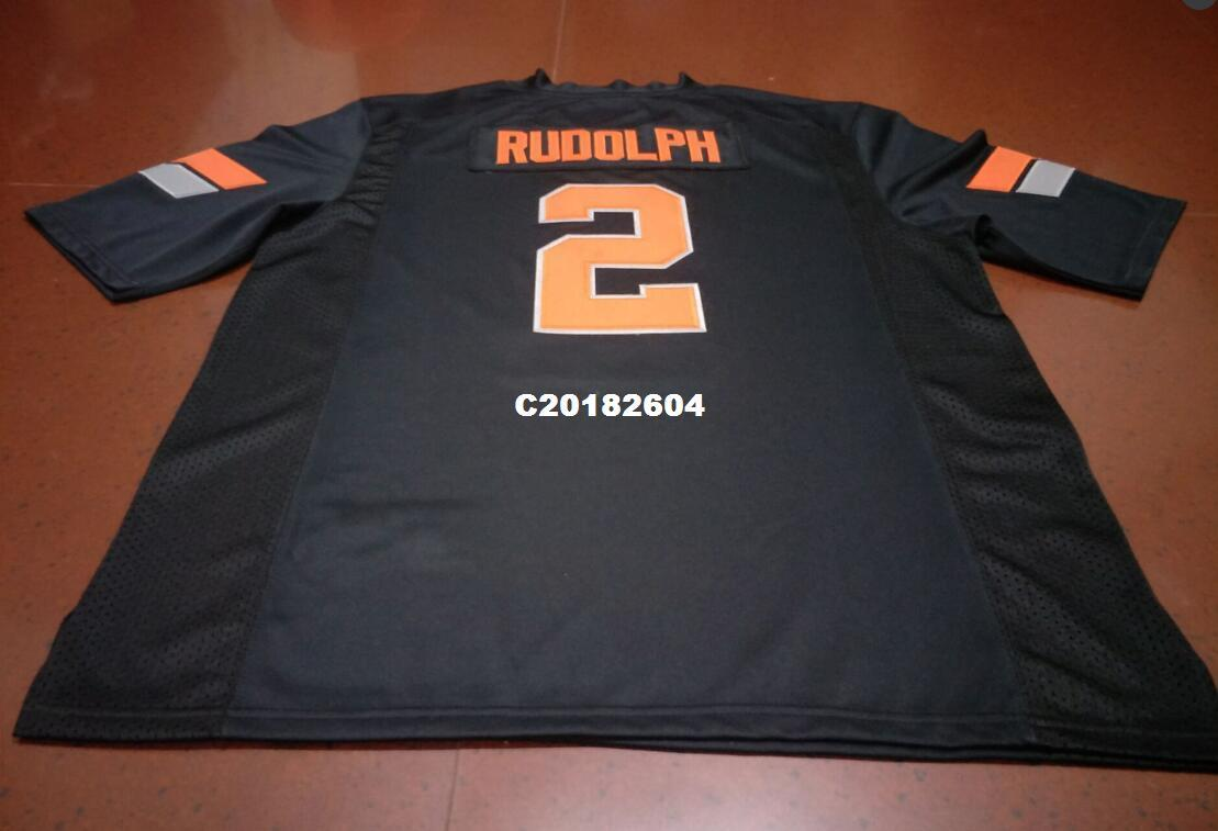 more photos 07727 e0ae9 Men #2 Black orange Mason Rudolph Oklahoma State Cowboys Alumni College  Jersey SIZE S-4XL or custom any name or number jersey
