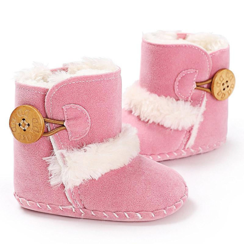 Casual Baby Snow Boots Non-slip Winter Half Boots Newborn Baby Boy Girl Soft Bottom Keep Warm Plush Insole Shoes