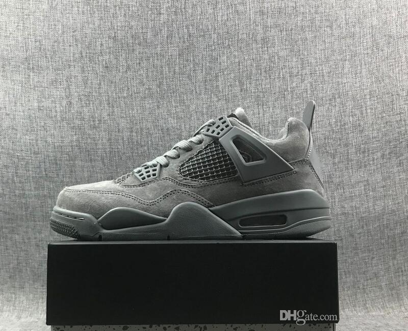 175a71e57 New Arrival 4 Cool Grey Black Man Designer Basketball Shoes Best ...