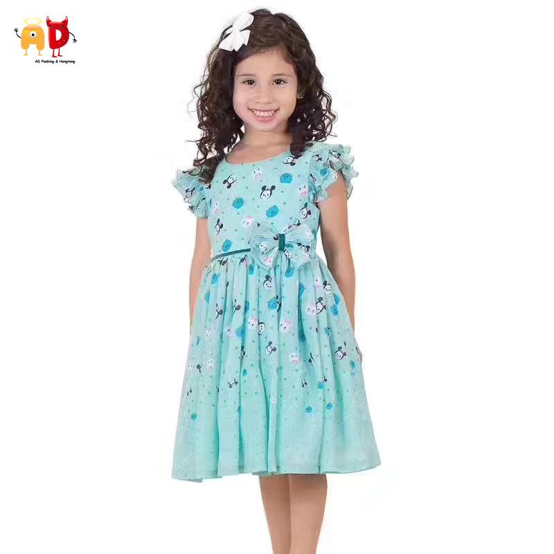 good quality Quality Fairy Girls Dress for Summer 3 Layers Super Big Lap Kids Dresses Children's Clothing Kids Clothes