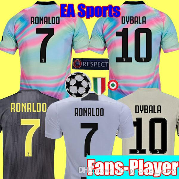 2019 Fans Player Version EA Sports Limited 2018 2019 RONALDO JUVENTUS  Soccer Jerseys 18 19 JUVE DYBALA MANDZUKIC Football Kits Shirt Tops Camisa  From ... 7aa144b87