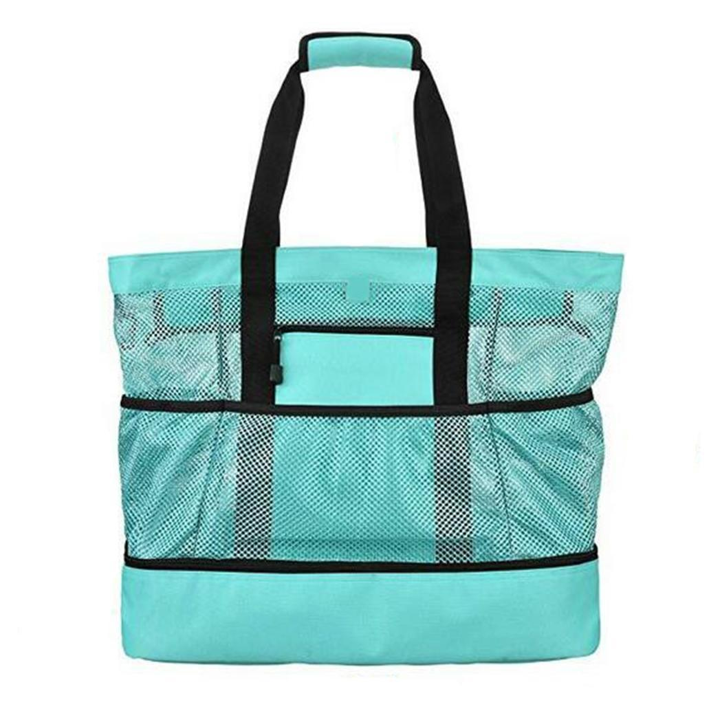 Multi-functional Beach Picnic Bag Waterproof Oxford Cloth Ice Bag Lunch Insulation Bags Large Capacity Portable Tote