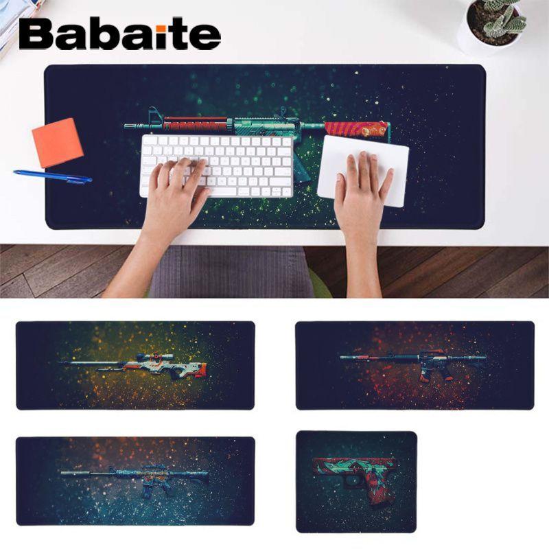 Babaite Hot Sales CS GO guns Large Mouse pad PC Computer mat Laptop Gaming  Lockedge Mice Mousepad